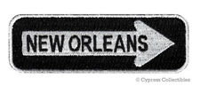 NEW ORLEANS ONE-WAY SIGN EMBROIDERED IRON-ON PATCH applique MARDI GRAS SOUVENIR
