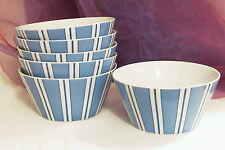 6 Müslischalen Schalen Schüsseln Salatschüssel Schüssel Schale Ashley blau/weiß