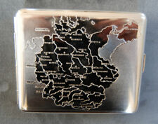 Hansaware WW2 Map of Germany 1938 Cigarette Case Made in Germany