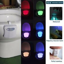 Automatic 8 Colors Human Motion Sensor Seat LED Light Toilet Bowl Bathroom Lamp