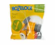 Hozelock Hose Fitting Starter Set 2355 Aqua Stop Nozzle Tap and End Connector