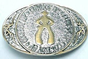Vintage MONTANA SILVERSMITHS Silvertone & Goldtone COWBOY Belt Buckle Western