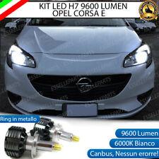 KIT FULL LED H7 OPEL CORSA E 6000K BIANCO GHIACCIO NO ERROR + SUPPORTI MONTAGGIO