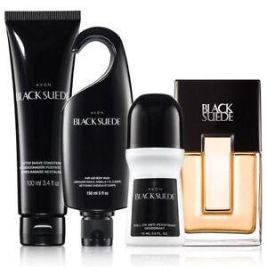 Avon Black Suede For Men Four Piece Gift Set