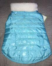X-Small DOG Jacket / Coat NWT$25 Stylish Reversible Teal & Seafoam Green