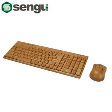 Sengu SG-KG201-N+MG94-N 2.4GHz Bamboo Wireless keyboard Mouse Combo(2 key pads)