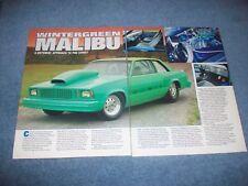 "1979 Chevy Malibu 2-Door Vintage Pro Street Article ""Wintergreen Malibu"""