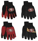 NWT NFL San Francisco 49ers No Slip Gripper Palm Utility Work Gardening Gloves