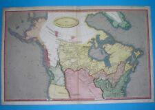 1809 RARE ORIGINAL MAP CANADA RUSSIAN ALASKA UNITED STATES MONTREAL NEW YORK