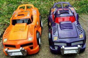 2 Fisher Price Shake N Go Crash Up Car- Purple & Orange Cars Supplied