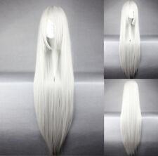 Glatte lange Perücken & Haarteile aus Kunsthaar-Kunst in Grau