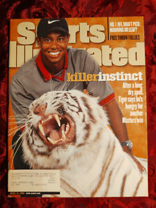 SPORTS Illustrated April 13 1998 TIGER WOODS Peyton Manning Marty Turco