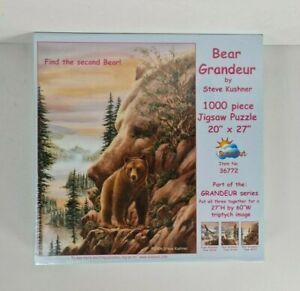 New - Bear Grandeur Steve Kushner Jigsaw Puzzle 1000 Pieces Find The Second Bear
