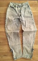 VTG  Palmettos Juniors High Rise Tapered Acid Wash Jeans  Ankle Zippers Size 9