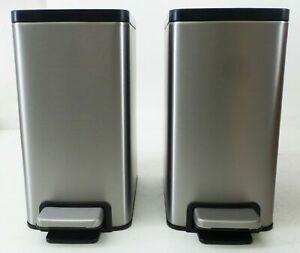 Kohler 6 Liter Stainless Steel Step Trash Bin, 2-pack #2 (0998)