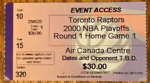Toronto Raptors FRANCHISE 1st Playoff game ticket STub 2000 vs Knicks Raps 0-3