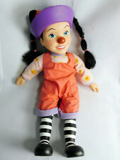 1997 Big Comfy Couch LOONETTE DOLL & CLOTHES Molly's Friend CLOWN DOLL