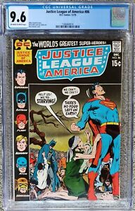 JUSTICE LEAGUE OF AMERICA #86 CGC 9.6 OW-W! TOUGH NEAL ADAMS COVER!
