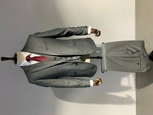 Mens 3 Piece Suit in Grey Tailored Fit Wedding Prom Office Suit
