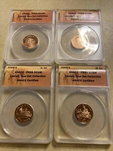 2009-S Proof Lincoln Cent 4 Coin Set 1c ANACS PR69DCAM
