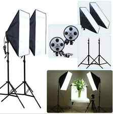 Photography Photo Studio Continuous Lighting 4 Head Light Softbox Light Stand UK