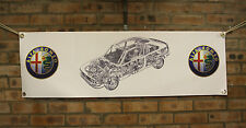 alfa romeo 155  large pvc  WORK SHOP BANNER garage man cave SHOW