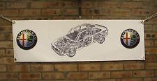 Alfa Romeo 155 gran tienda de trabajo de PVC Banner Garaje Cueva de hombre mostrar