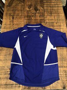 Brazil Away Shirt 2002 Size L