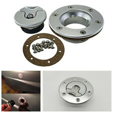 Universal Billet Aircraft Style Fuel Cell Gas Cap Flush Mount w/ 6 Hole Anodized