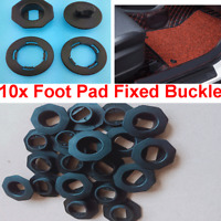 40 Pcs Car Mat Carpet Foot Pad Edge Retaining Fastener Fixed Black Plastic Clips