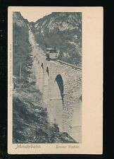 Germany MENDELBAHN Grosser Viaduct Railway 1900s u/b PPC