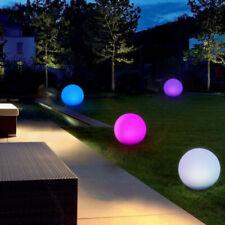 Luz Flotante LED Bola de Jardín Decorativa RGB Mando, Exterior bola de piscina