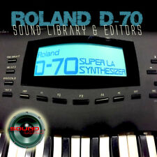 for ROLAND D-70 Original Factory and New Created Sound Library & Editors on CD