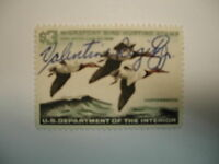 US Department of Interior Scott #RW32 $3 Canvas Backs Duck Stamp 1965, Used &...
