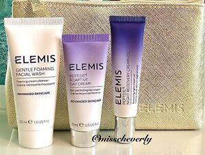 ELEMIS Peptide4 Adaptive Day Cream+Night Recovery Oil+Gentle Foaming Facial Wash