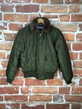 Vintage Polo Ralph Lauren S Down Puffer Fur RRL 90s Military Parka Bomber Jacket