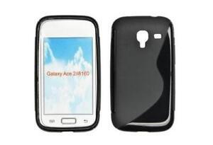 Housse Etui Coque Silicone Gel Noir S ~ Samsung GT i8160 Galaxy Ace 2
