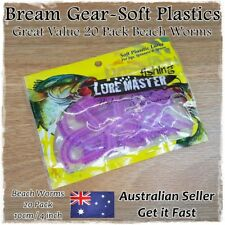 Soft Plastic Fishing Lures Beach Worm Tube Worms Blood Bream Whiting 10cm 20pk