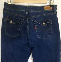 Levis 515 Womens Blue Dark Wash Boot Cut Leg Jeans Sz 6 L/C