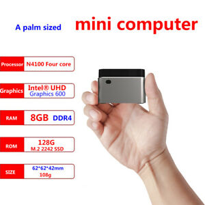 Super Mini PC 8GB/512GB SSD N4100 HDMI 4k60hz Wifi USB3.0 Type-C Power Supply