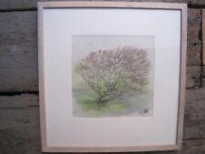 Watercolour Painting May Tree, Portloe Michael Hitchings RWA