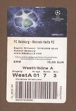 Orig.Ticket   Champions League 09/10   RED BULL SALZBURG - MACCABI HAIFA !! RARE