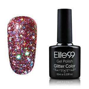 Elite99 Soak Off Glitter Diamond Gel Nail Polish Lacquer Base Top Coat UV LED