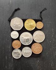 Bag Of 10 Different old Irish Coins 1/2p 1p 2p 5p 10p 20p 50p 1 Punt Mixed Dates