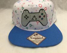 1e81b1eb6fd Sony Playstation Controller White Blue Adjustable Snapback Bioworld Hat Cap  NWT