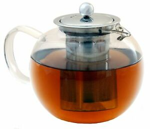 Life Upgrade Kozy Kettle - 5 Cup Glass Teapot with Removable Stainless Steel ...