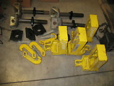USED SET OF 4 CELETTE SEVENNE ANCHORING  CLAMPS WITH YELLOW SILL CLAMPS