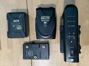 Anton Bauer Battery Kit - 2 90Wh  batteries, converter, dual charger