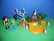 Playmobil Zoo: Set 4853 Erdmännchen Kolonie Erdhügel + Futter, 5 Erdmännchen (E)