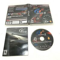 Gran Turismo 5-The Real Driving Simulator (Sony PlayStation 3, 2010) w/ Manual